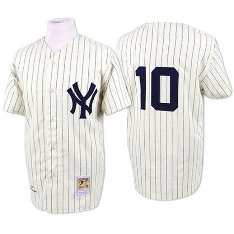 Yankees 10 Phil Rizzuto Cream Mitchell & Ness Jersey