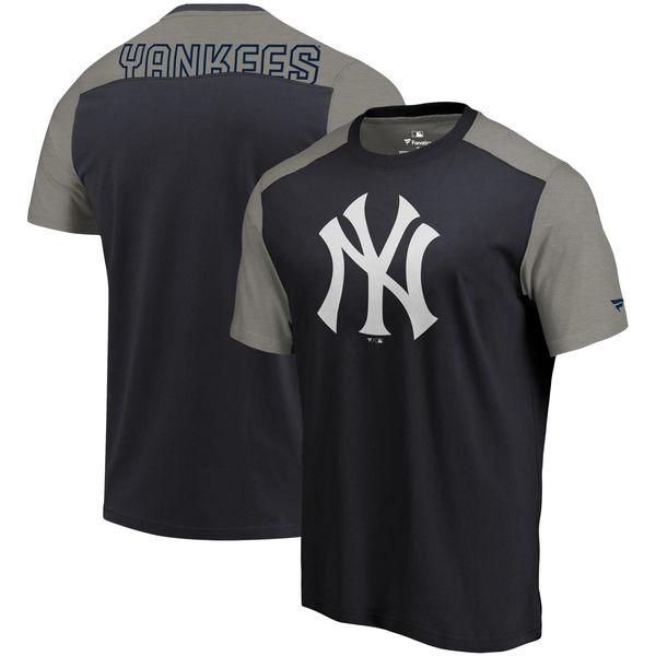 New York Yankees Fanatics Branded Big & Tall Iconic T-Shirt Navy & Gray
