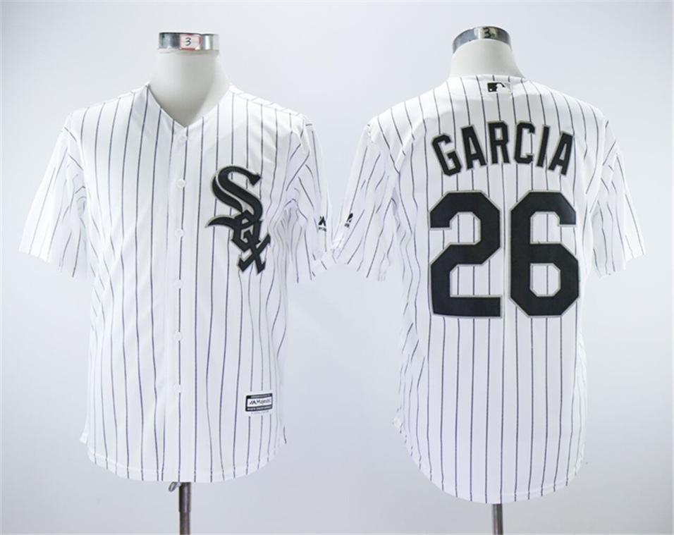 White Sox 26 Avisail Garcia White Cool Base Jersey