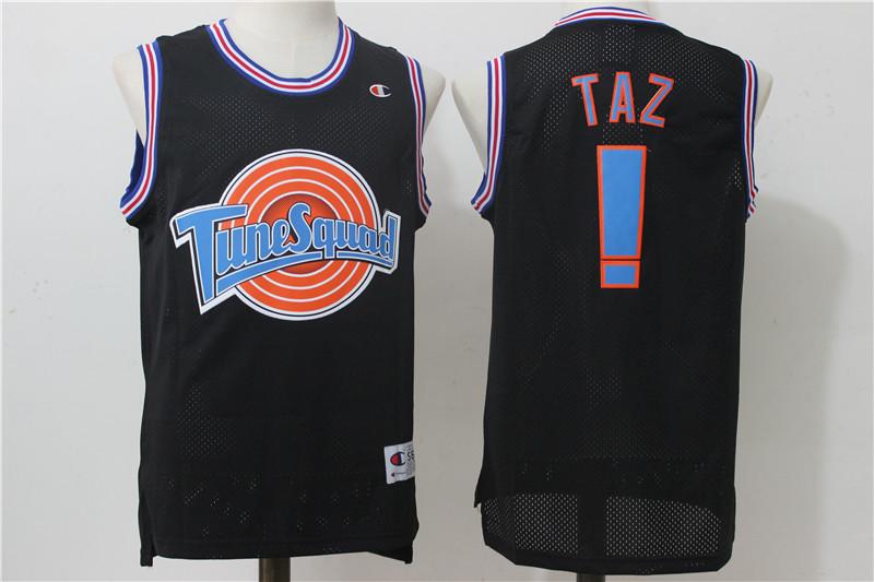 "Tune Squad ! ""Taz"" Black Stitched Movie Jersey"