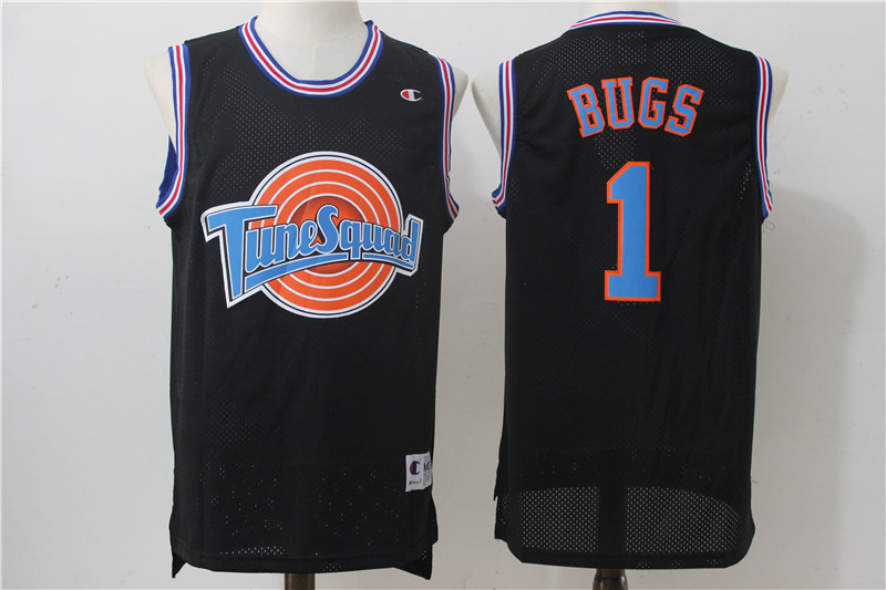 "Tune Squad 1 ""Bugs"" Black Stitched Movie Jersey"