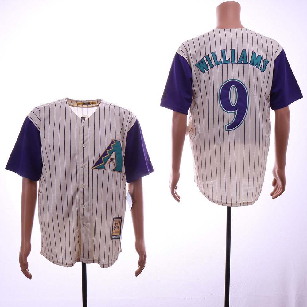 Diamondbacks 9 Matt Williams Cream Cooperstown Collection Jersey