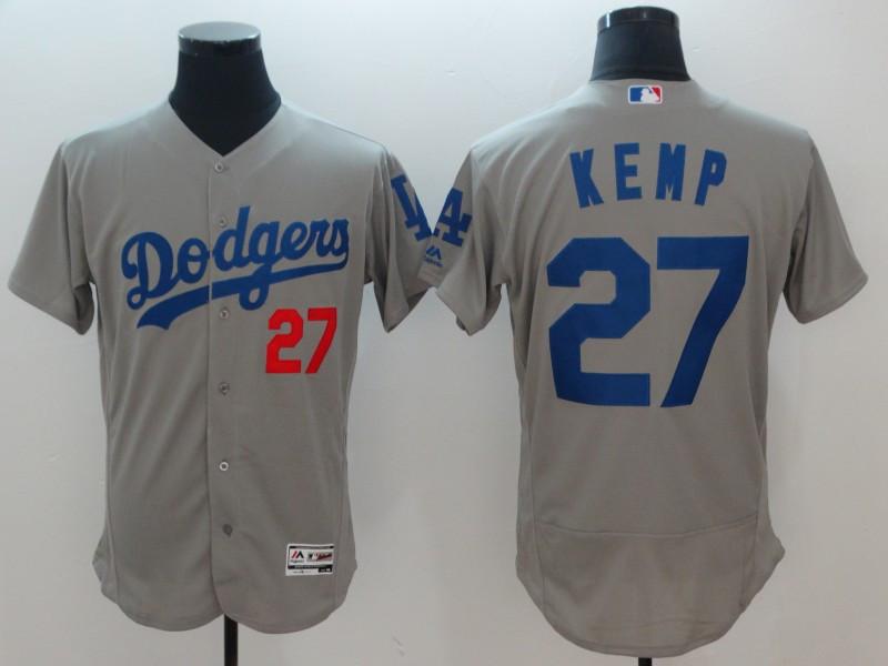 Dodgers 27 Matt Kemp Gray Flexbase Jersey