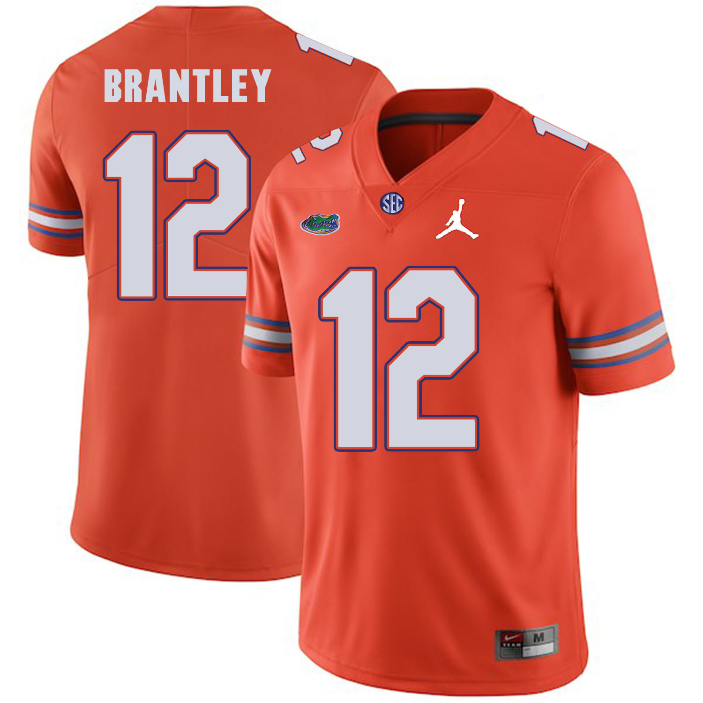 Florida Gators 12 John Brantley Orange College Football Jersey