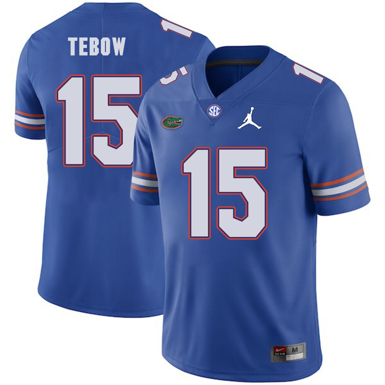 Florida Gators 15 Tim Tebow Blue College Football Jersey