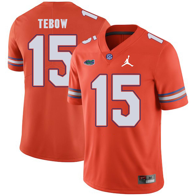 Florida Gators 15 Tim Tebow Orange College Football Jersey