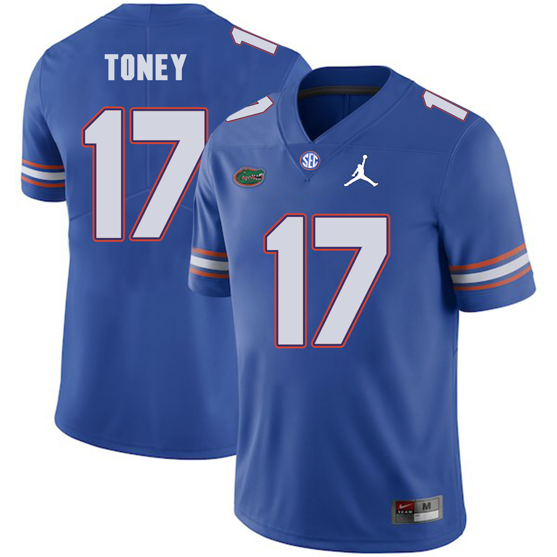 Florida Gators 17 Kadarius Toney Blue College Football Jersey