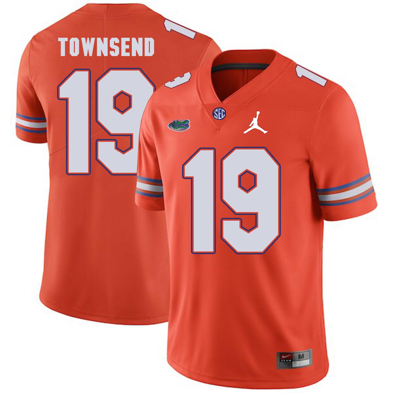 Florida Gators 19 Johnny Townsend Orange College Football Jersey