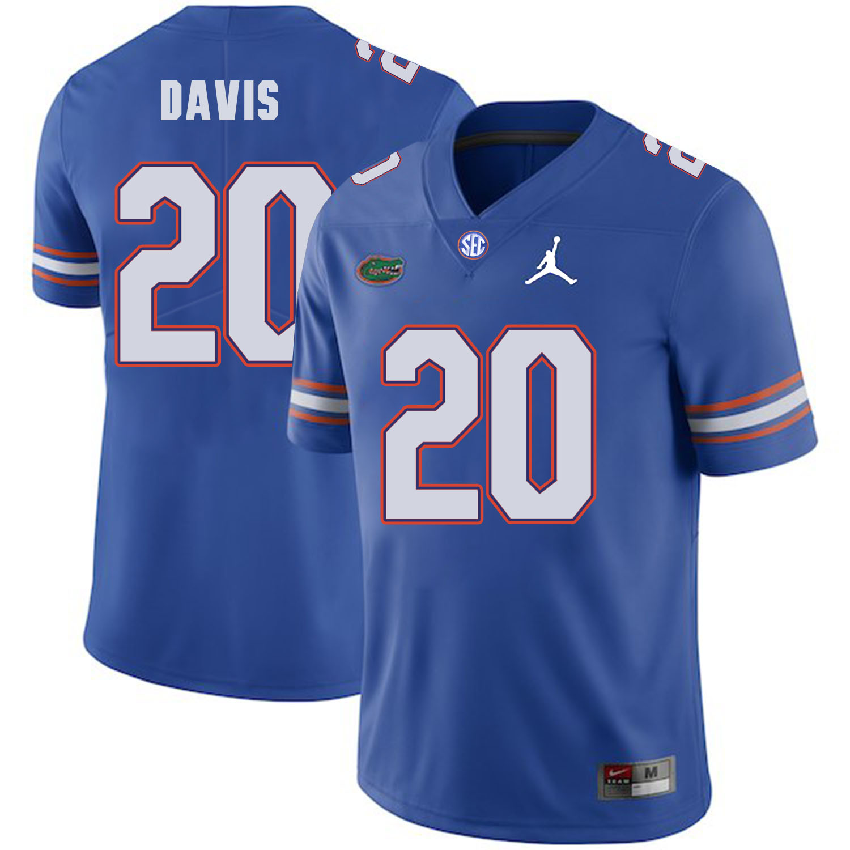 Florida Gators 20 Malik Davis Blue College Football Jersey