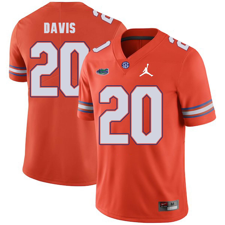 Florida Gators 20 Malik Davis Orange College Football Jersey