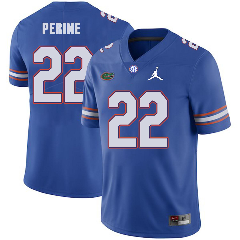 Florida Gators 22 Lamical Perine Blue College Football Jersey