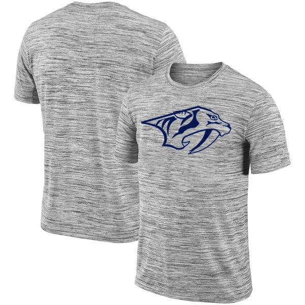 Nashville Predators 2018 Heathered Black Sideline Legend Velocity Travel Performance T-Shirt
