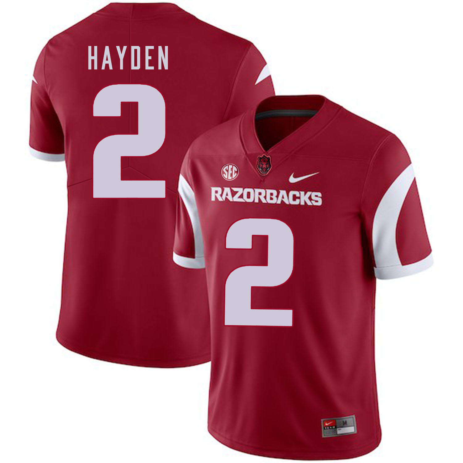 Arkansas Razorbacks 2 Chase Hayden Red College Football Jersey
