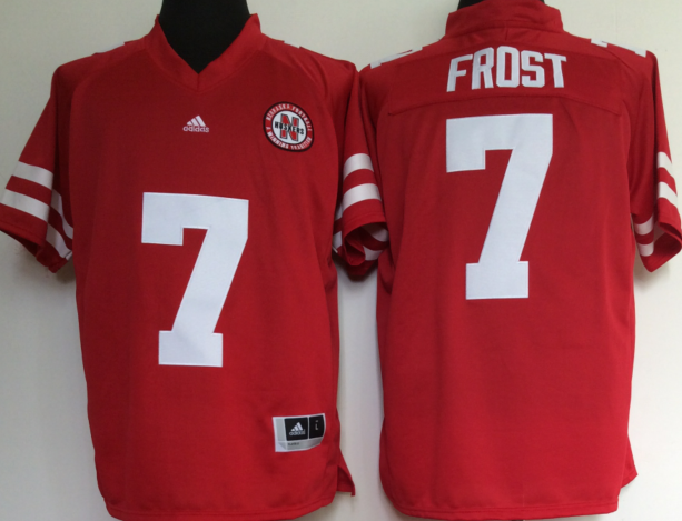 Nebraska Cornhuskers 7 Scott Frost Red College Football Jersey
