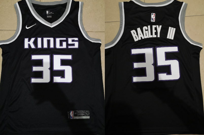 Kings 35 Marvin Bagley III Black Nike Swingman Jersey