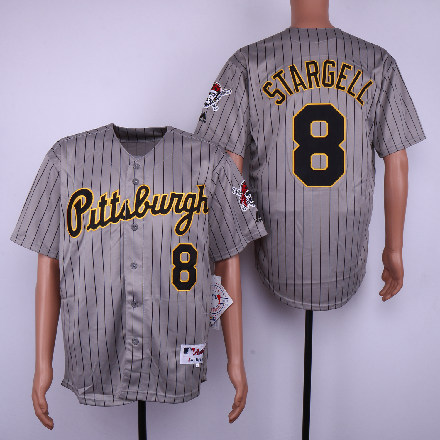 Pirates 8 Willie Stargell Gray 1997 Turn Back The Clock Jersey