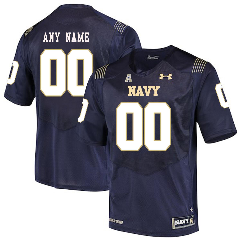 Navy Midshipmen Navy Men's Customized College Football Jersey