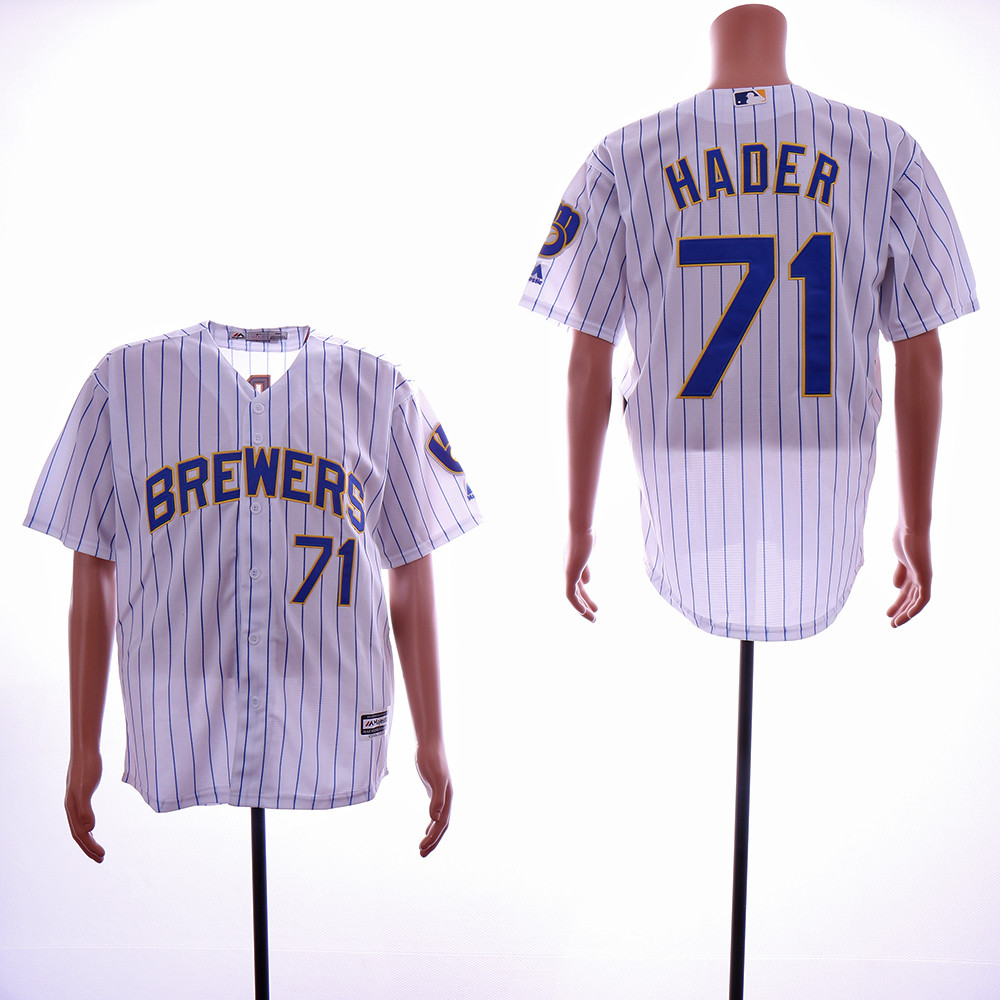 Brewers 71 Josh Hader White Cool Base Jersey