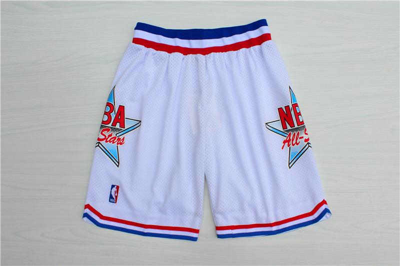 1992 All-Star White Hardwood Classics Shorts