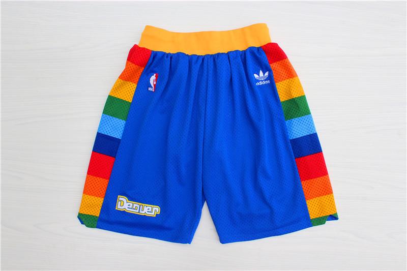 Nuggets Blue Hardwood Classics Shorts