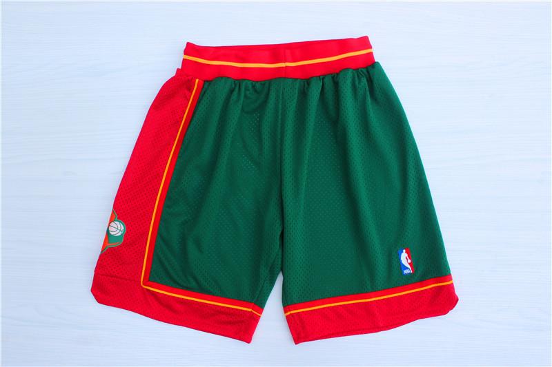 SuperSonics Green 1995-96 Hardwoodclassics Shorts