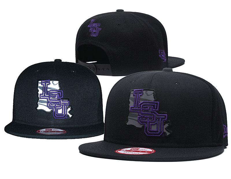 LSU Tigers Reflective Black NCAA Adjustable Hat GS