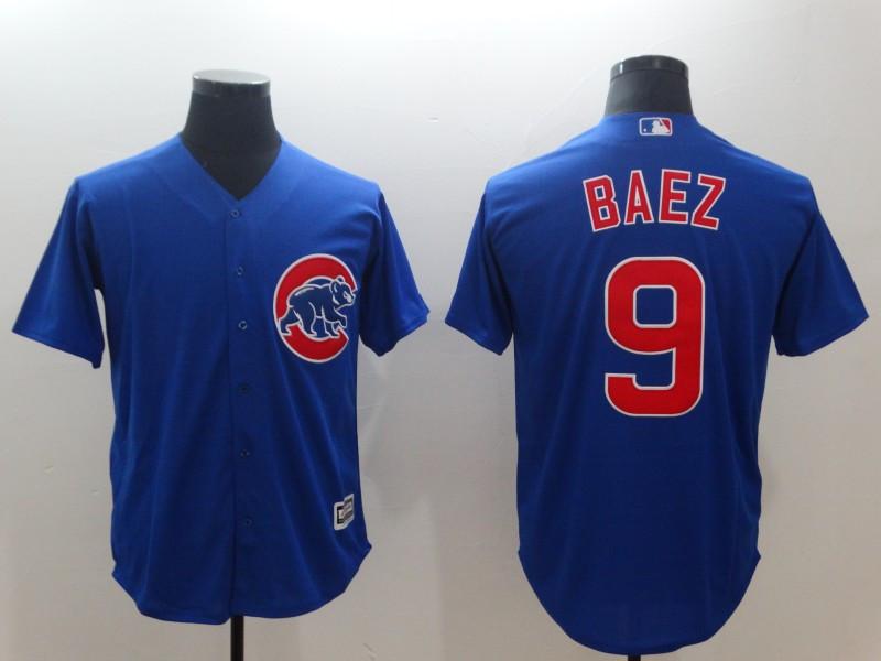 Cubs 9 Javier Baez Royal Throwback Cool Base Jersey