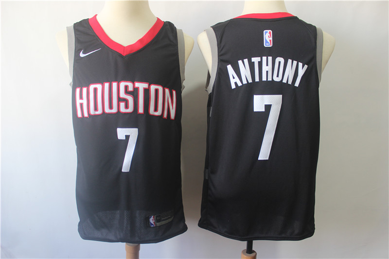 Rockets 7 Carmelo Anthony Black Nike Swingman Jersey