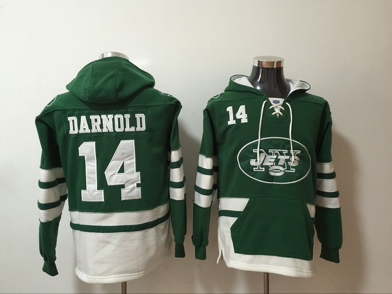 Nike Jets 14 Sam Darnold Green All Stitched Sweatshirt
