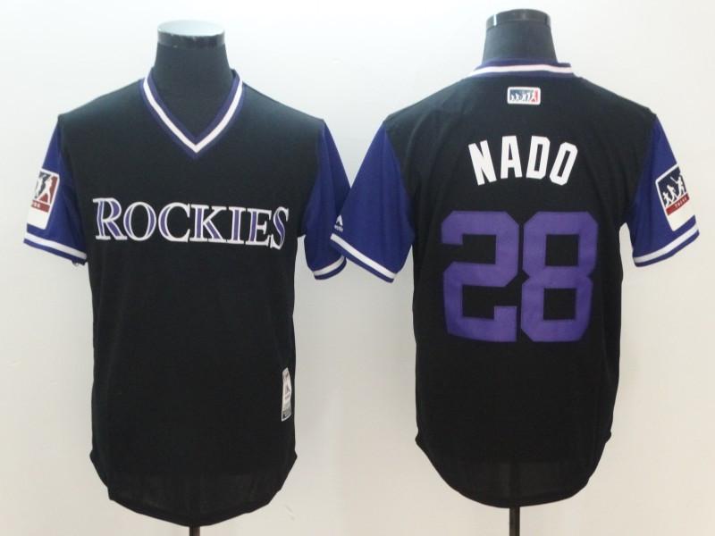 Rockies 28 Nolan Arenado Nado Black 2018 Players' Weekend Authentic Team Jersey