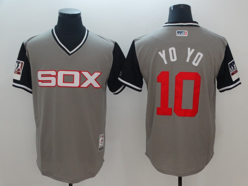 White Sox 10 Yoan Moncada YoYo Gray 2018 Players' Weekend Authentic Team Jersey