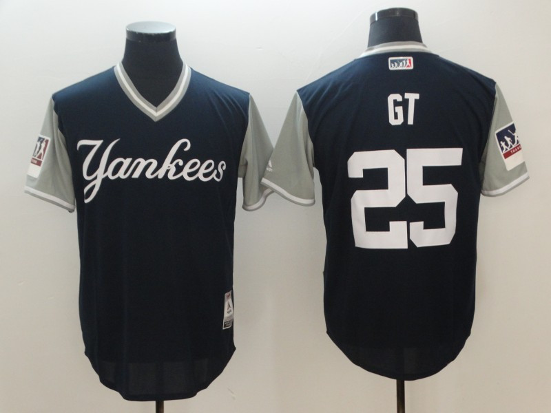Yankees 25 Gleyber Torres GT Navy 2018 Players' Weekend Authentic Team Jersey