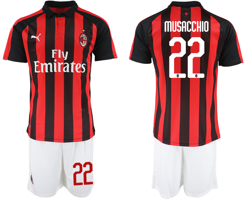 2018-19 AC Milan 22 MUSACCHIO Home Soccer Jersey