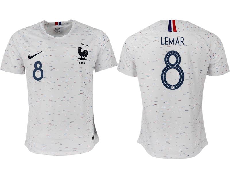 France 8 LEMAR Away 2018 FIFA World Cup Thailand Soccer Jersey