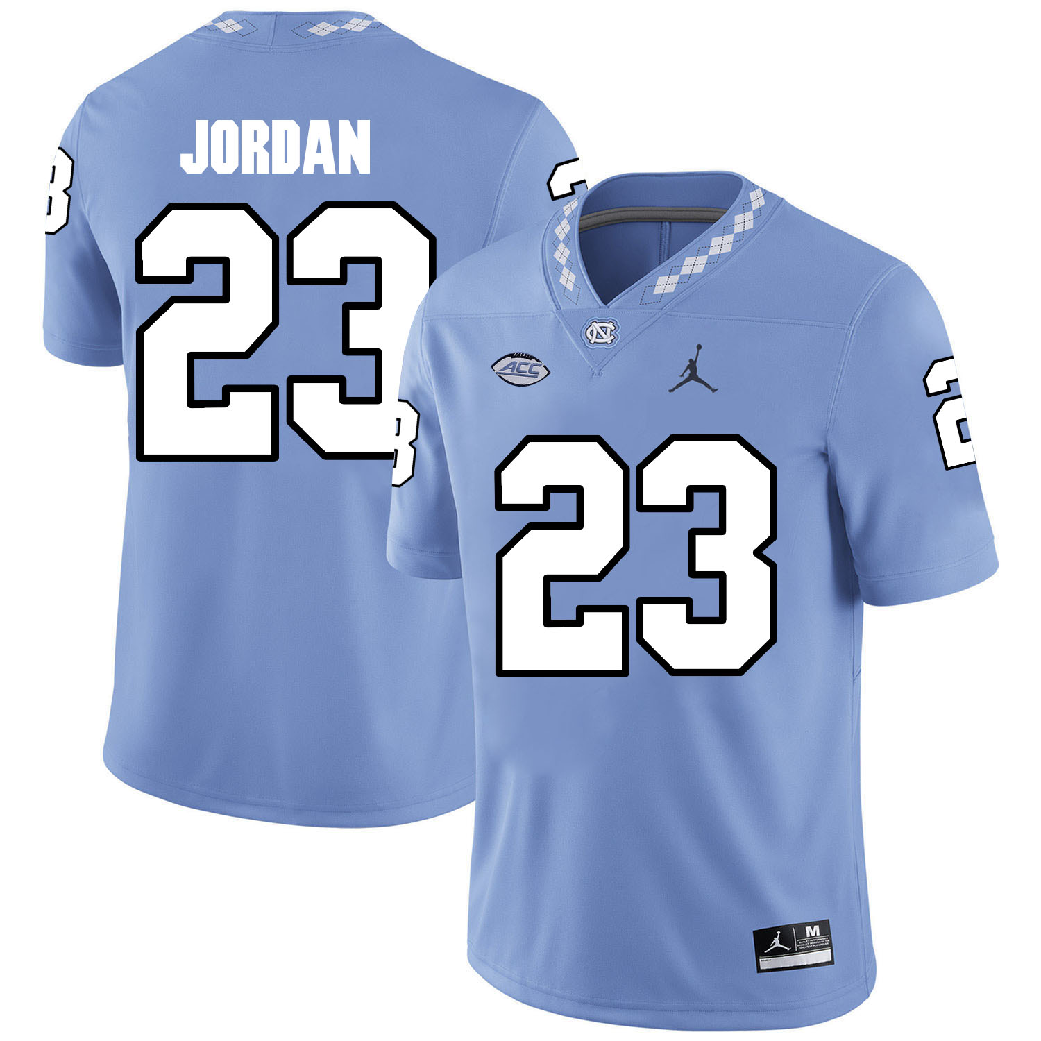 North Carolina Tar Heels 23 Michael Jordan Blue College Football Jersey