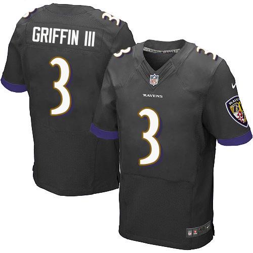Nike Ravens Robert Griffin III Black Elite Jersey