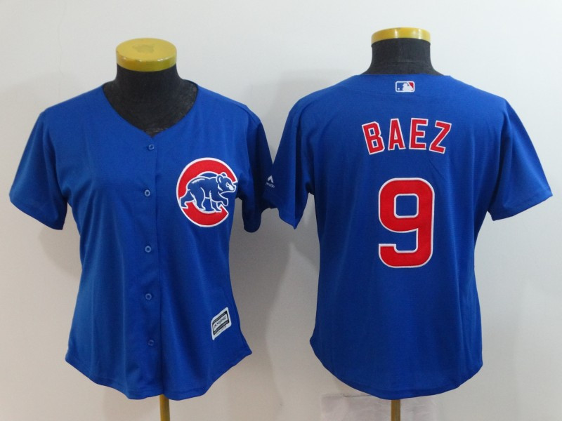 Cubs 9 Javier Baez Royal Women Cool Base Jersey