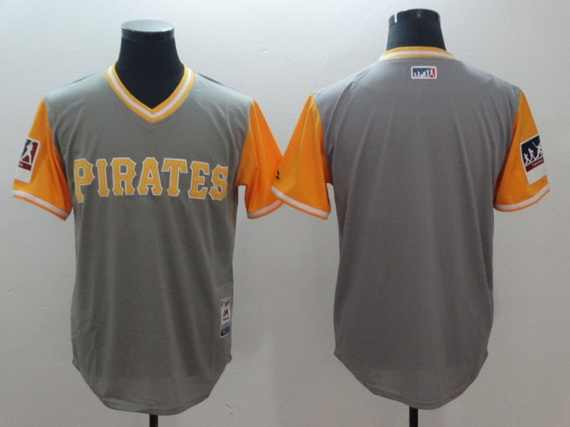 Pirates Gray 2018 Players' Weekend Authentic Team Jersey