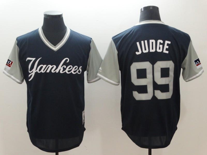 Yankees 99 Aaron Judge Judge Navy 2018 Players' Weekend Authentic Team Jersey
