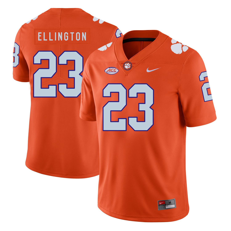 Clemson Tigers 23 Andre Ellington Orange Nike College Football Jersey