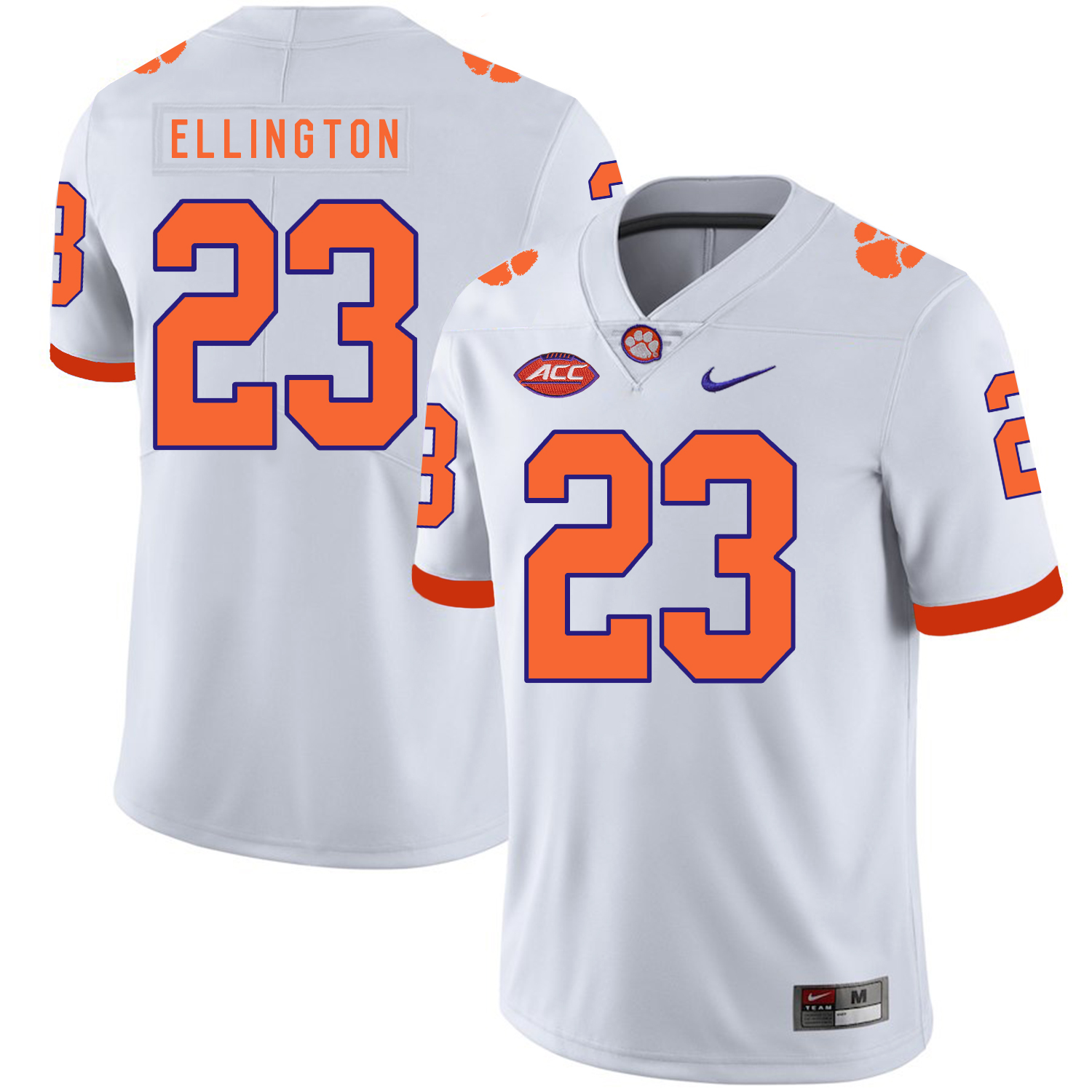 Clemson Tigers 23 Andre Ellington White Nike College Football Jersey