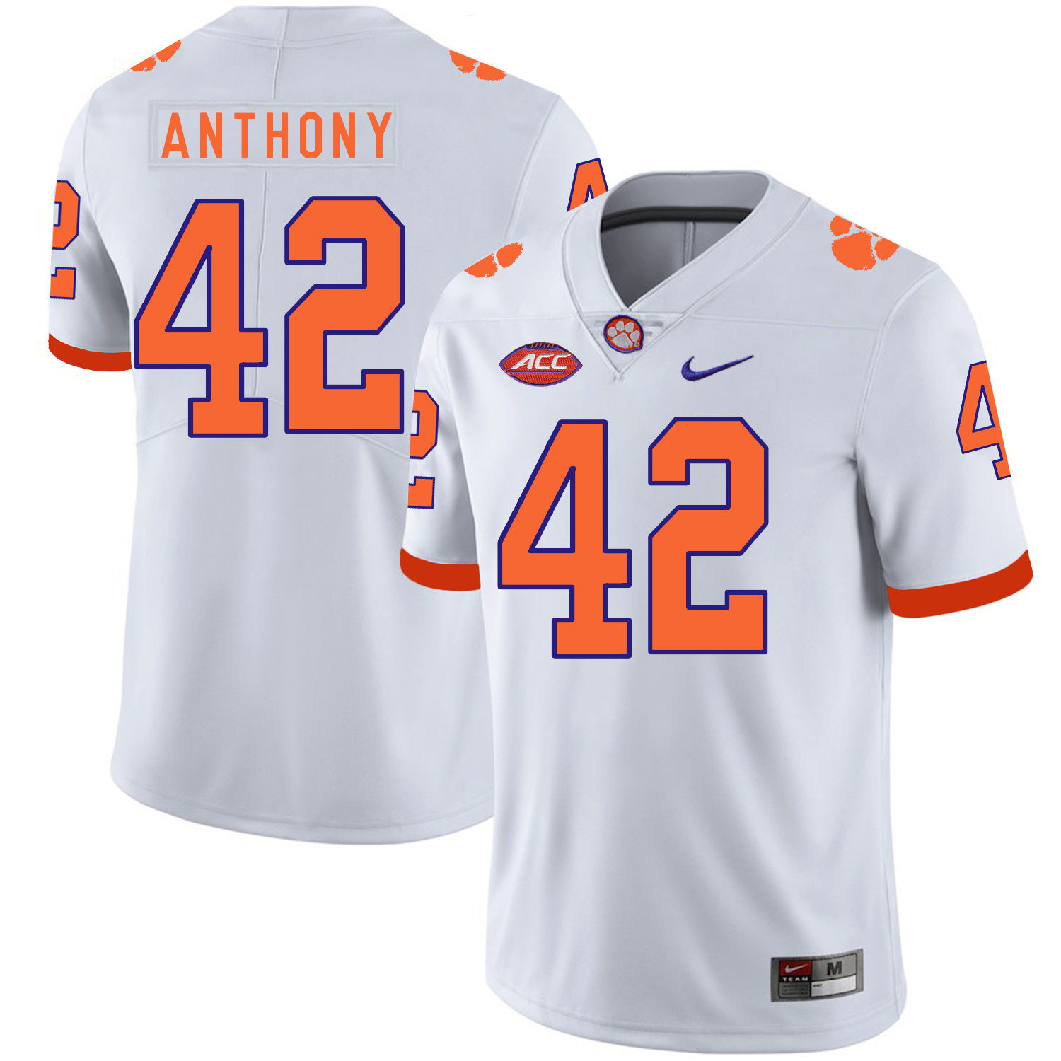 Clemson Tigers 42 Christian Wilkins White Nike College Football Jersey