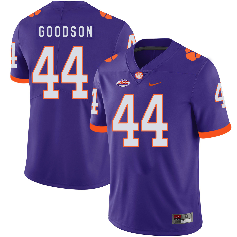 Clemson Tigers 44 B.J. Goodson Purple Nike College Football Jersey