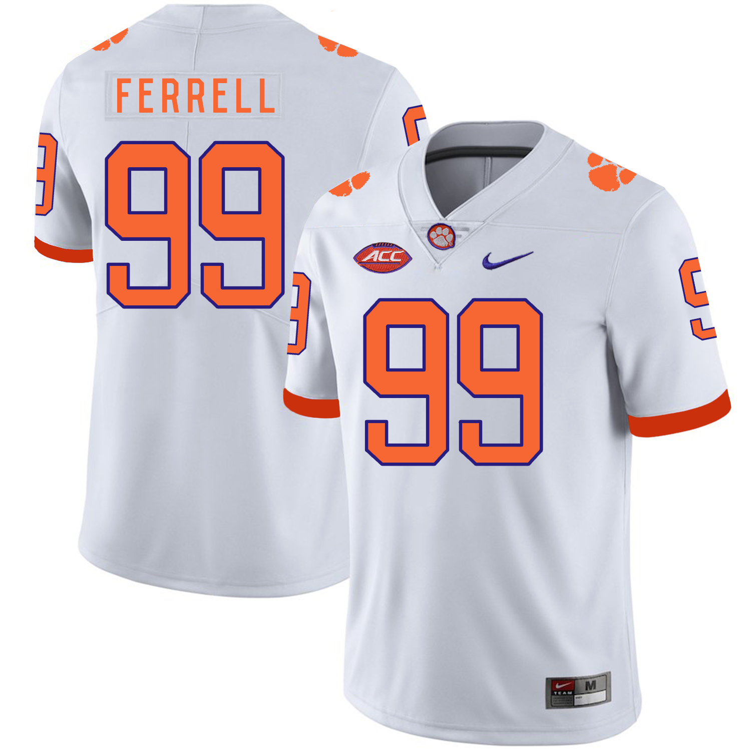 Clemson Tigers 99 Clelin Ferrell White Nike College Football Jersey