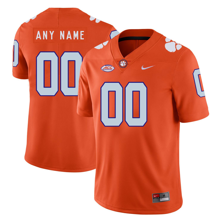 Clemson Tigers Orange Men's Customized Nike College Football Jersey
