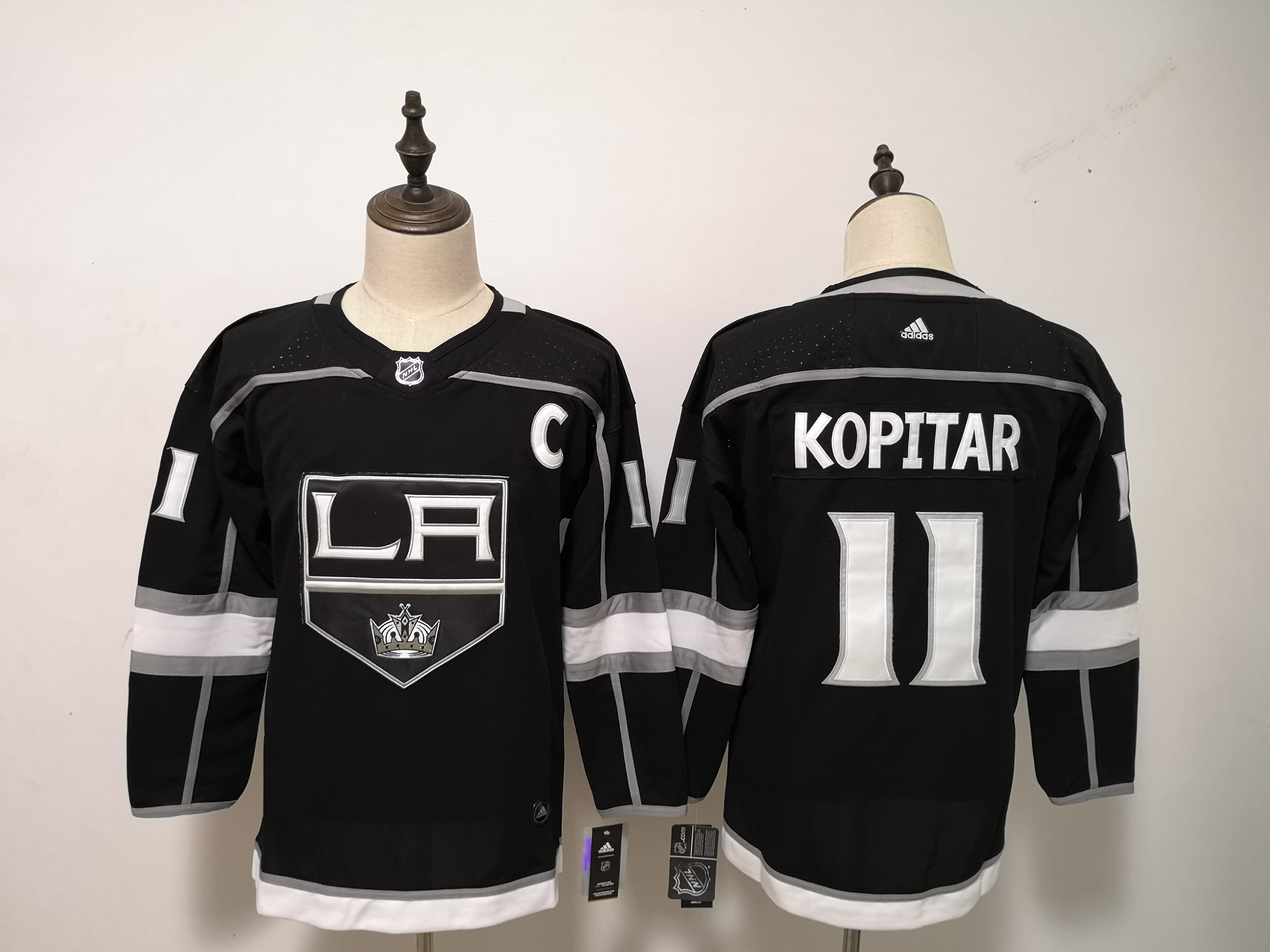 Kings 11 Anze Kopitar Black Youth Adidas Jersey