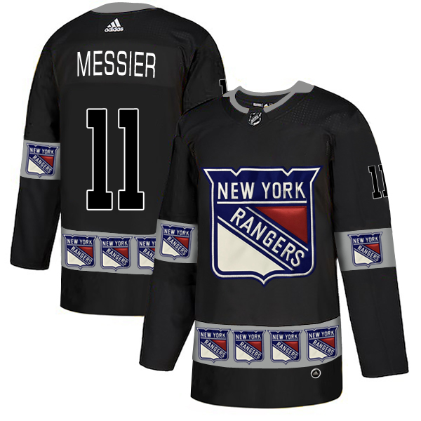Rangers 11 Mark Messier Black Team Logos Fashion Adidas Jersey