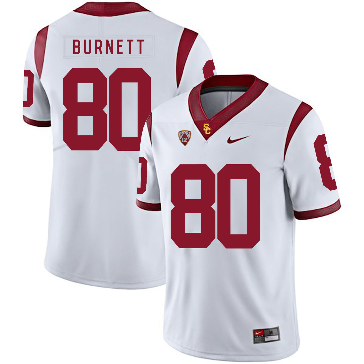 USC Trojans 80 Deontay Burnett White College Football Jersey