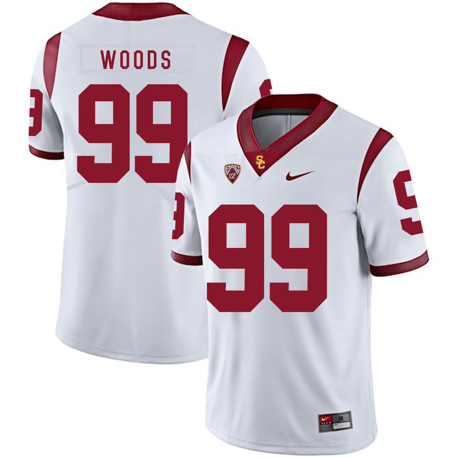 USC Trojans 99 Antwaun Woods White College Football Jersey