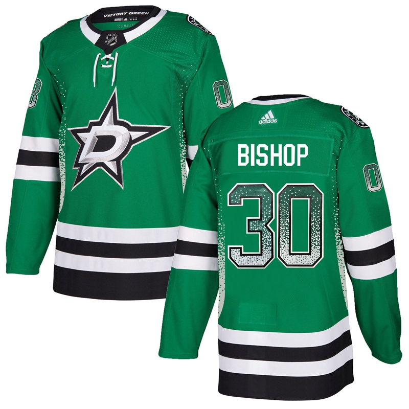 Stars 30 Ben Bishop Green Drift Fashion Adidas Jersey